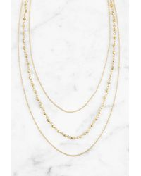 South Moon Under - Layered Rosary Bead Necklace - Gold - Lyst