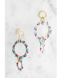 South Moon Under - Beaded Circles Statement Earrings - Lyst