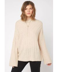 South Moon Under - Mock Neck Ribbed Pullover - Lyst