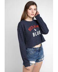 Sub_Urban Riot - Red Wine And Blue Gigi Sweatshirt - Lyst