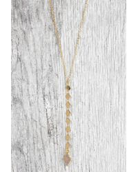 South Moon Under - Diamond Y Necklace With Druzy Stone - Lyst