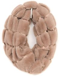 South Moon Under - Faux Fur Mink Infinity Scarf - Lyst