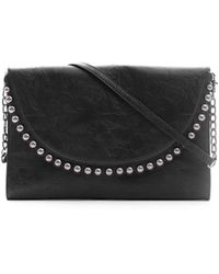 South Moon Under - Distresses Leather Clutch With Studs - Lyst