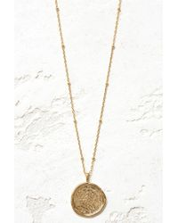 South Moon Under - Compass Coin Necklace - Lyst