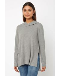 South Moon Under - Best Intention Waffle Knit Hooded Top - Lyst