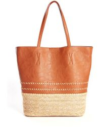 South Moon Under - Palapa Tote With Straw Bottom - Lyst
