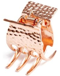 South Moon Under - Rose Gold Hammered Clip Rose Gold - Lyst