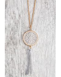 South Moon Under - Long Pendant Filigree Disc Necklace - Lyst