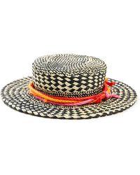 South Moon Under - Straw Boater Hat Open Weave - Lyst