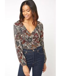 South Moon Under - Paisley Wrap Top - Lyst