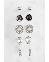 South Moon Under - Set Of Sliver Stud Earrings - Lyst
