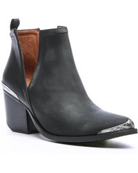 South Moon Under - Cromwell Leather Western Cut Out Bootie - Lyst