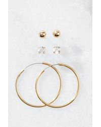 South Moon Under Hoop And Stud Set Gold P1Io3m