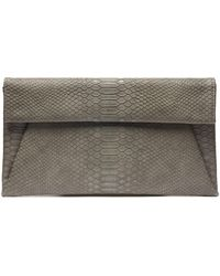 South Moon Under - Foldover Snake Clutch - Lyst