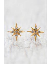 South Moon Under - Gold Starburst Stud Earrings - Lyst