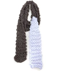 South Moon Under - Knotted Ombre Scarf - Lyst