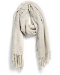 Blank - Et Oblong Scarf With Fringe - Lyst