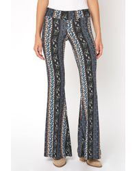 South Moon Under - Boho Paisley Vertical Print Fit & Flare Pant - Lyst