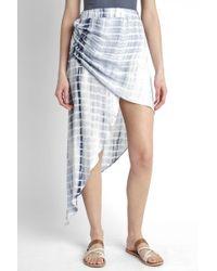 South Moon Under - Asymmetrical Hi Lo Tie Dye Skirt - Lyst