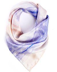 South Moon Under - Kyley Watercolor Silk Neckerchief - Lyst