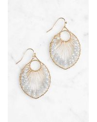 South Moon Under - Metal Drop Earring With Beading - Lyst