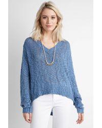 Somedays Lovin | Slub Yarn V Neck Side Slit Pullover | Lyst