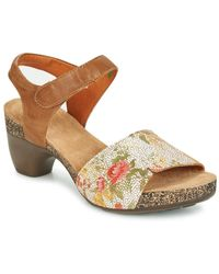 Think! - Tiana Women's Sandals In Brown - Lyst