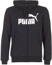 PUMA - ESS NO.1 LOGO FZ HOODY hommes Sweat-shirt en Noir - Lyst