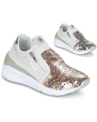 Versace Jeans - Anita Vrbsb1 Women's Shoes (trainers) In Gold - Lyst