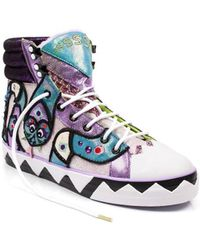 Irregular Choice - Ssssdney Women's Shoes (high-top Trainers) In Purple - Lyst