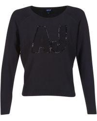 Armani Jeans - Ikonote Women's Jumper In Black - Lyst