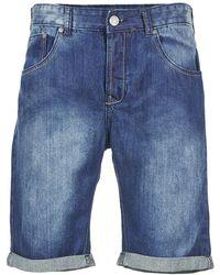 Yurban - Efigas Men's Shorts In Blue - Lyst