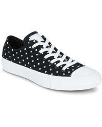 Converse - Chuck Taylor All Star Ii - Ox Women s Shoes (trainers) In Black 8a23c535d