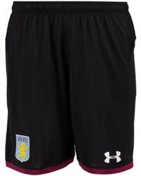 Under Armour - 2017-2018 Aston Villa Away Football Shorts - Kids Women's Shorts In Black - Lyst