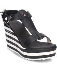 U.S. POLO ASSN. - Fedra Women's Sandals In Black - Lyst