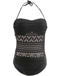 Carla Bikini - 1 Piece Black Swimsuit Essential Nightchic Women's Swimsuits In Black - Lyst