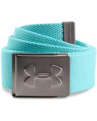 Under Armour - Webbing Belt - Blue Men's Belt In Blue - Lyst