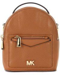 e1de61cbb070 MICHAEL Michael Kors - Jessa Brown Tumbled Leather Mini Backpack Women's Shoulder  Bag In Brown -
