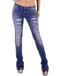 Sexy Woman - Gr_73791 Women's Boyfriend Jeans In Blue - Lyst