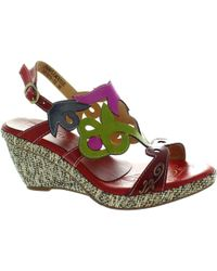 Laura Vita - Pample Mousse Women's Sandals In Red - Lyst