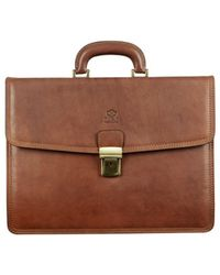 Time Resistance - The Sound Of The Mountain Men's Briefcase In Brown - Lyst