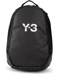 Y-3 - Black Wax Canvas Backpack Men s Backpack In Black - Lyst 6790cbabc0