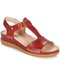 Pikolinos - Cadaques W8k Women's Sandals In Red - Lyst