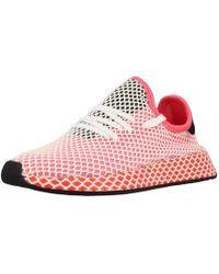 Adidas deerupt Runner W zapatos de mujer (entrenadores) de rosa en rosa Lyst