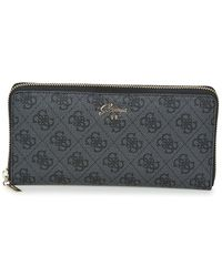 Guess - Jacqui Cheque Organizer Women's Purse Wallet In Black - Lyst