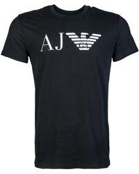 Armani Jeans - T Shirt 8n6t99 67pfz Men's T Shirt In Black - Lyst