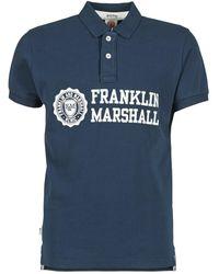 Franklin & Marshall - Aylen Men's Polo Shirt In Blue - Lyst