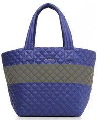 MZ Wallace - Medium Metro Tote - Lapis/ Reflective - One Size Multicolour Women's Shopper Bag In Multicolour - Lyst