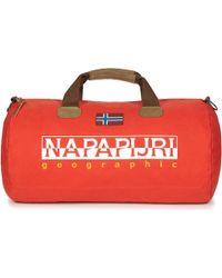 Napapijri - Bering 1 Men's Travel Bag In Orange - Lyst