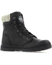 Palladium - Pampa Hi Knit Lp Women's Mid Boots In Black - Lyst